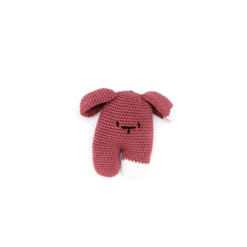 Doudou au crochet Garance Prune par May Be Monday dans une chambre