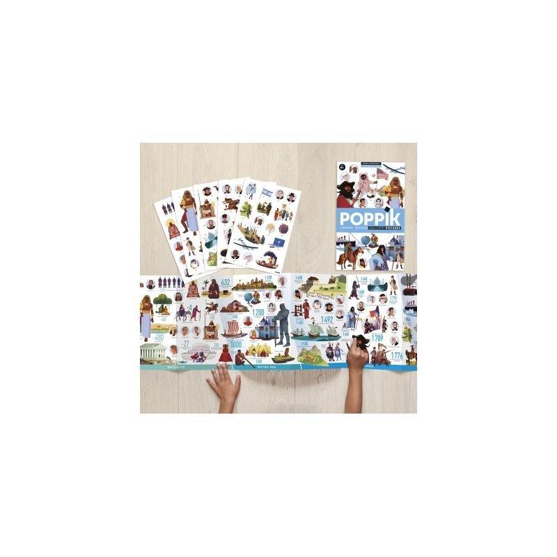 Poster Stickers Frise historique du monde