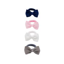 Lot 4 élastiques pour bébé| Blanc/rose/gris/marine