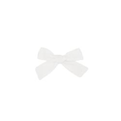 Barrette coton à pois blanc alligator |Blanc