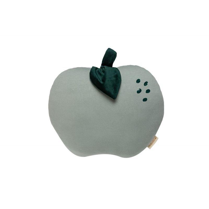 Coussin pomme | Vert par Nobodinoz détail de la tige