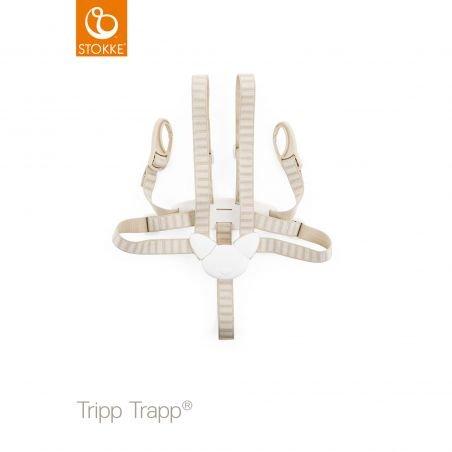 Harnais beige pour chaise trip trap
