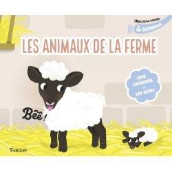 Mon livre sonore | Animaux de la ferme à caresser par Tourbillon couverture