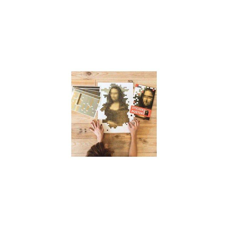 Poster en pixels La Joconde par Poppik en cours de réalisation