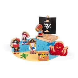 Set pirates story par Janod personnages avec support