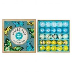 Boite de 25 billes | Box papillons par Billes