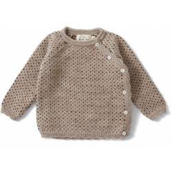 Cardigan laine   Marron