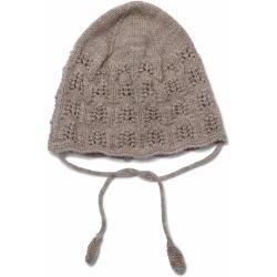 Bonnet béguin laine | Beige Marron