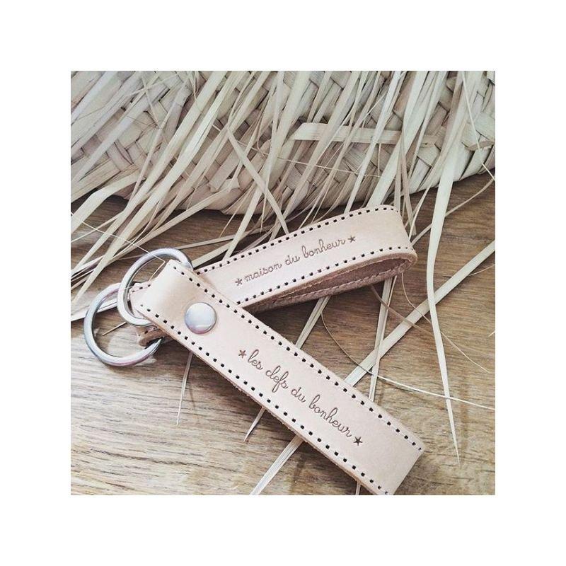 Porte clefs en cuir | Clefs du bonheur par Marcel