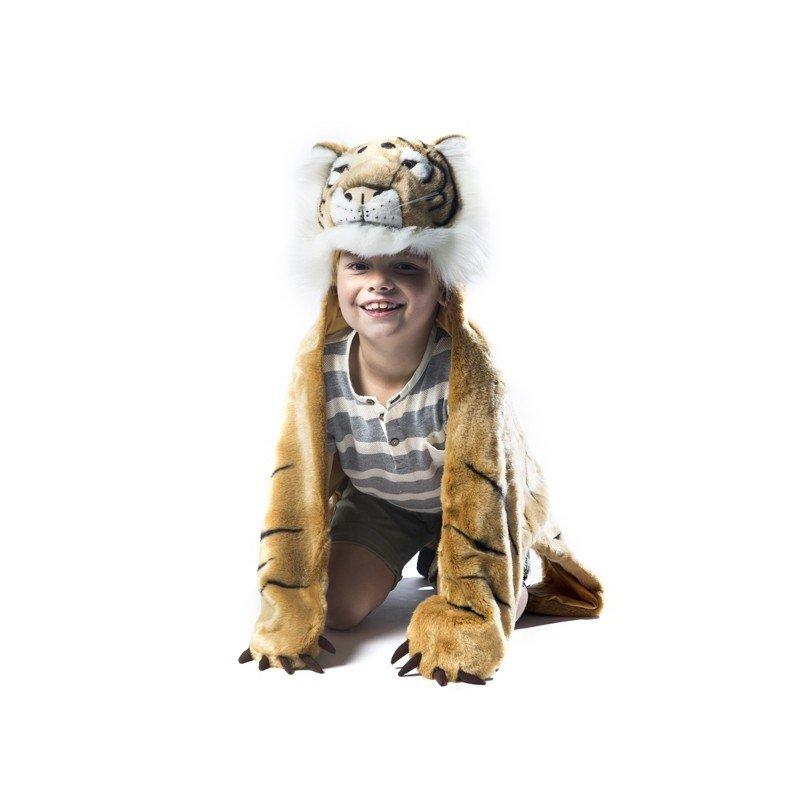 Enfant à 4 pattes, déguisé en tigre Wild and Soft