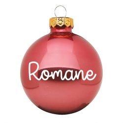 Boule de Noël personnalisée | Rose brillant