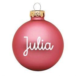 Boule de Noël personnalisée | Rose mat