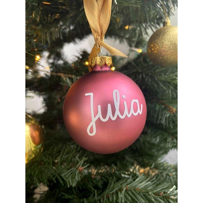 Boule de Noël personnalisée | Rose mat par Little cecile