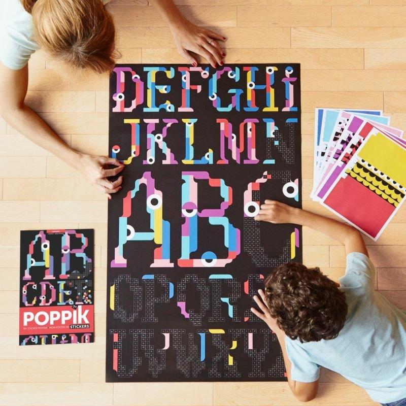 Poster Stickers Alphabet