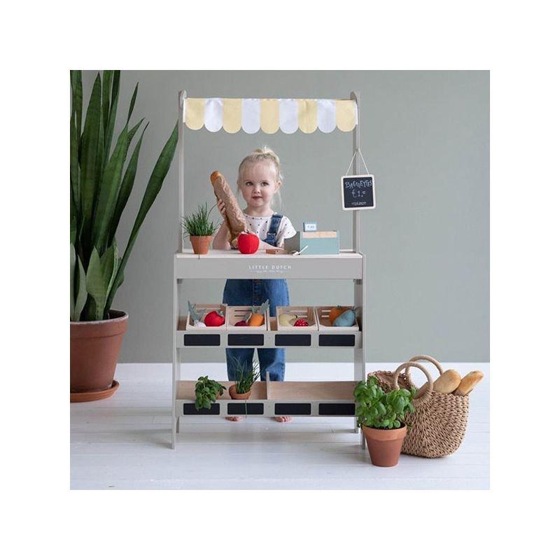 Étal de marché en bois par Little Dutch avec enfant