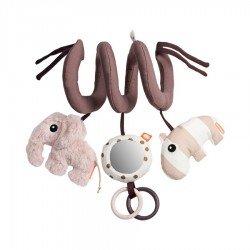Spirale d'activités à suspendre rose pour bébé par Done by deer