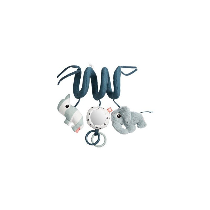 Spirale d'activités à suspendre bleu pour bébé par Done by deer