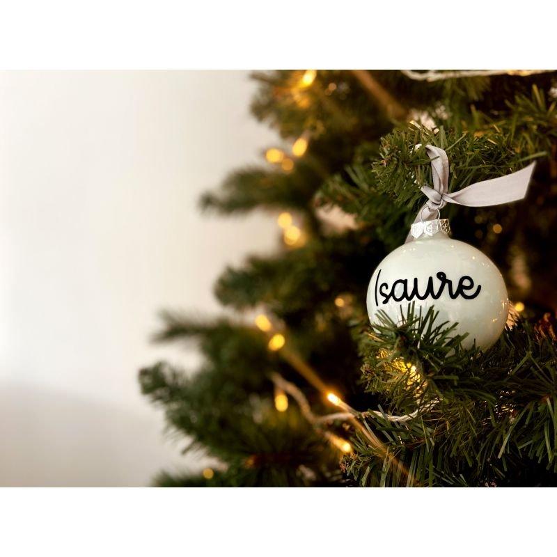 Boule de Noël personnalisée | Argent brillant