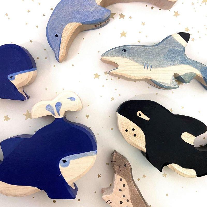 Baleine en bois