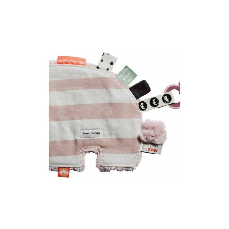 Zoom sur le doudou Hippo rose par Done by deer
