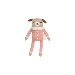 Doudou chien | Salopette rose par Main Sauvage