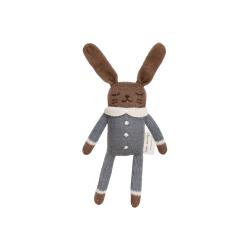Doudou lapin | Combinaison ardoise par Main Sauvage