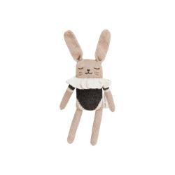 Doudou lapin | Maillot noir par Main Sauvage