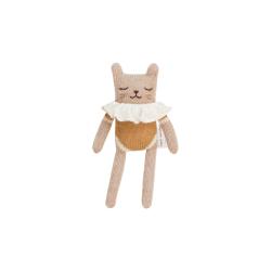 Doudou chaton | Maillot ocre par Main Sauvage