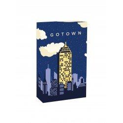 Jeu de cartes go town à partir de 6 ans où vous devez construire votre gratte-ciel