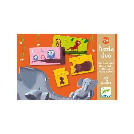 Puzzle duo | Maman et bébé par Djeco dans sa boite