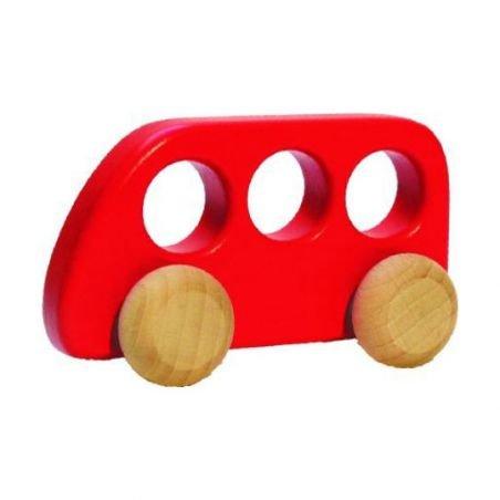Bus en bois | Rouge par Bajo