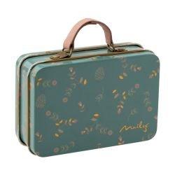 Mini valise en métal | Fleurs bleu par Maileg