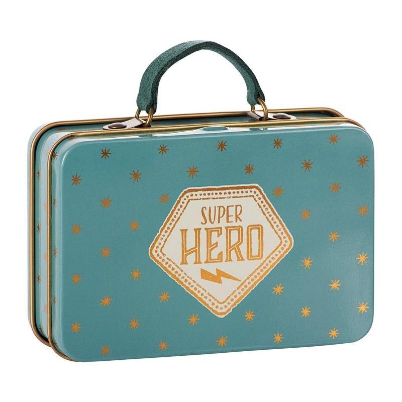 Petite valise métallique super-héros