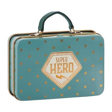 Petite valise métallique super héro
