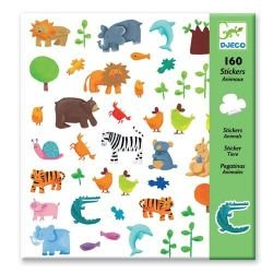 Stickers papier animaux