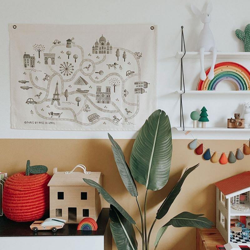 Carte de Paris par Rose in April dans une chambre