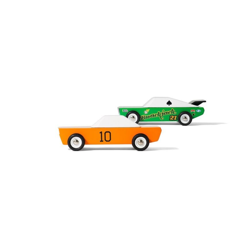 Candycar | Lot de 2 voitures Desert Race par CandyLab Toys deux voitures de côté