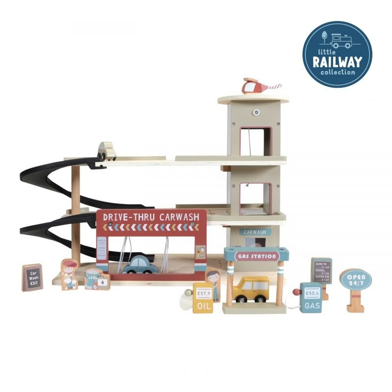 Circuit de train | Garage par Little Dutch avec un enfant