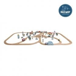 Circuit de train XXL - kit de démarrage par Little Dutch