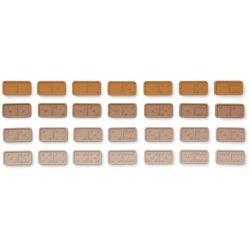 Dominos en silicone | Rose et moutarde