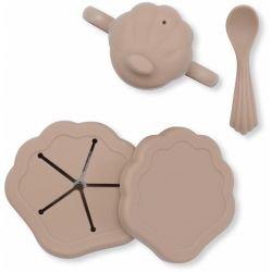 Set de repas coquillage en silicone | Blush