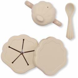 Set de repas coquillage en silicone | Shell