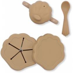 Set de repas coquillage en silicone | Terracotta
