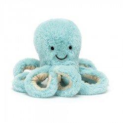 Bébé pieuvre bleu 14 cm
