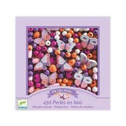 Perles en bois roses | Papillons par Djeco