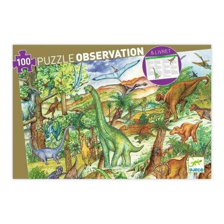 Puzzle d'observation Dinosaures - 100 pièces par Djeco