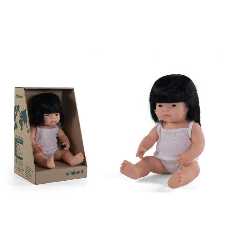 Poupée 38 cm | Asiatique fille par Miniland et sa boite