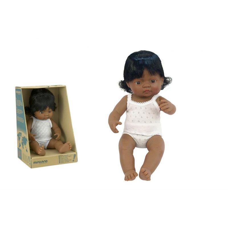 Poupée 38 cm | Hispanique fille par Miniland et sa boite