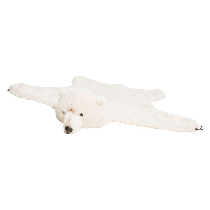 Déguisement et tapis en forme d'ours blanc