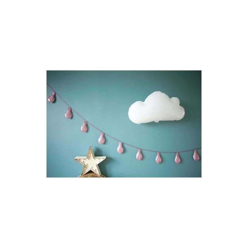 Guirlande décorative   Ampoules rose par Plick Plock sur un mur